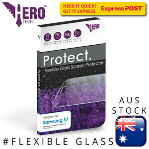 Flexible Glass Protector Samsung S7, Genuine HeroTech. Flexi Glass iPhone