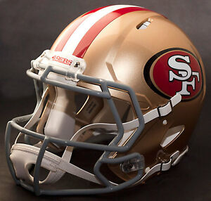 SAN FRANCISCO 49ers NFL Authentic GAMEDAY Football Helmet w CU-S2BD-SW Facemask