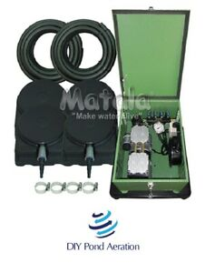 NEW Large POND Aeration Kit 4+ Acres 400' SINK Tube 8 Diffusers Locking Cabinet