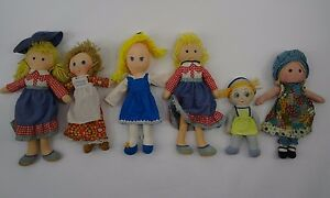 vintage cloth rag doll lot coleco