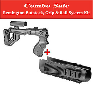 REMINGTON 870 BUTTSTOCK with Cheek Rest GRIP & RAIL SYSTEM Upgrade Kit Deal