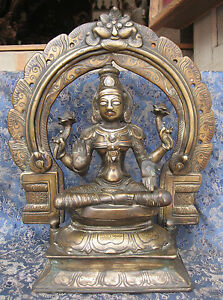 Antique Very Old Master Quality Hand Carved Goddes Laxmi rupa Nepal