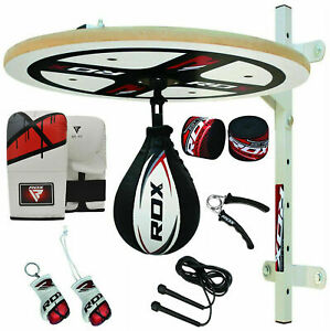 RDX 12 PC Speed Ball Platform Set Boxing Swivel Stand Bag Mitts Cow Hide Leather $102.99