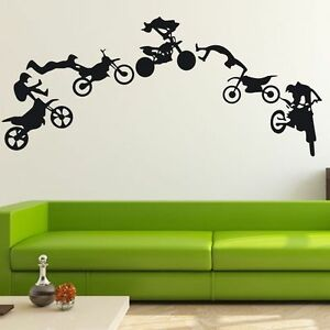 MOTOCROSS Motor Dirt Bike Wall Decal Decor Home Vinyl Sticker Art Mural