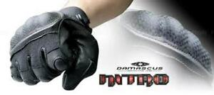 DMZ33 Hard Knuckle Black Leather made with Kevlar Police Tactical Airsoft Gloves