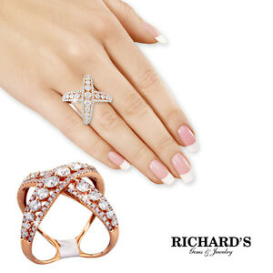 18K ROSE GOLD DIAMOND BIG