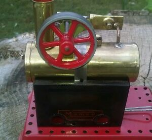 live steam engine in restored condition