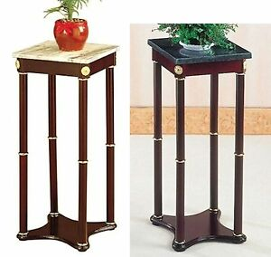 White Marble Square Plant Telephone Vase Stand New $38.00