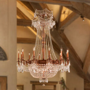 USA BRAND Winchester 18 Light French Gold Finish Crystal Chandelier 36