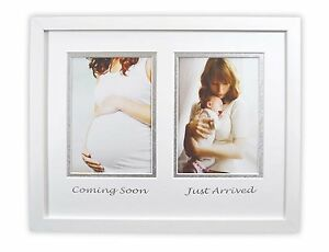 Gift for New Mom, 11x14-inch White Solid Wooden Wall Hanging Picture frame