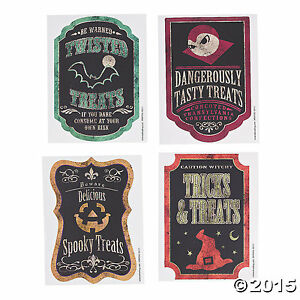 Candy Bag treat Labels 12 Piece Halloween Party Favor $5.27