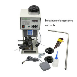 220V 1.5T Automatic Wire Crimping Machine  Low Noise Terminal Crimping Machine