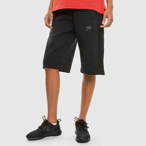 NIKE WOMENS TECH FLEECE MESH BLACK RETRO SHORTS 728263 010 SMALL MEDIUM