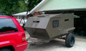 Military Inspired Teardrop style camping trailer Custom Made for You.
