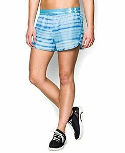 Under Armour Womens UA Printed Perfect Pace Short MD US 8-10 X 3 ISLAND BLUES
