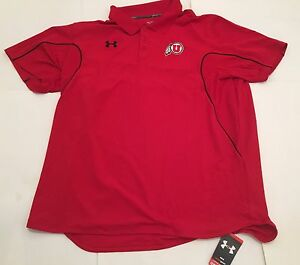 New NWT Utah Utes Under Armour Red Heat Gear Polo Shirt Size 3XL