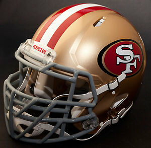 SAN FRANCISCO 49ers NFL Authentic GAMEDAY Football Helmet wS2BDC-TX-LW Facemask