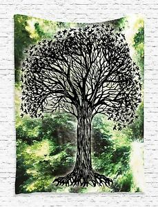 Tree of Life Indian Art Tapestry Wall Hanging for Living Room Bedroom Dorm Decor
