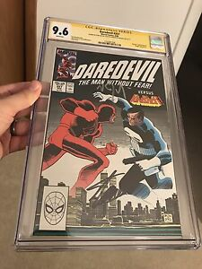 Daredevil #257 CGC 9.6 SS X2 Stan Lee Vincent D'Onofrio Signed