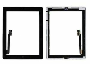Black Glass Touch Screen Digitizer W Home Button Assembly for iPad 3 4 4th Gen