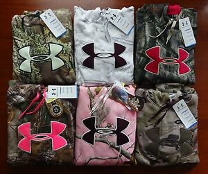 Under Armour Women's Camo Big Logo Hoodie NWT Hunting Stitched $47.99