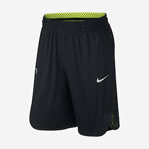 Nike Elite DRY-FIT Liftoff Basketball Shorts BlackVolt 776119-010 Men's M L