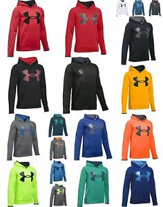 Under Armour Boys' Storm Armour Fleece Highlight Big Logo Hoodie ***19 colors***
