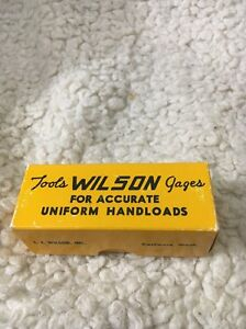 LE Wilson Reloading Tool Die Cartridge Case Length Gage 375 Winchester NOS