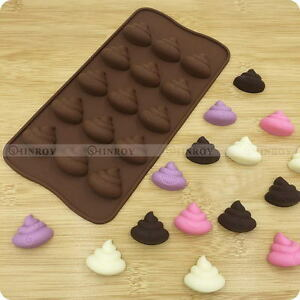 Chic Silicone Emoji Poop Face Mold Cake Chocoloate Candy Biscuit Baking Decor