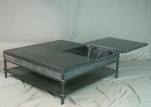 Industrial Lift Top Coffee Table Double Lift Top Handmade. Urban. Steel. $4500.00