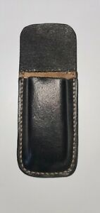 Custom blue leather OWB magazine pouchholder. Fits most 9&40 double stack mags