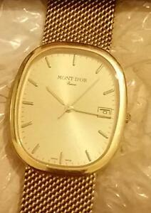 Analog watch Mont D'or 18k Gold mens watch