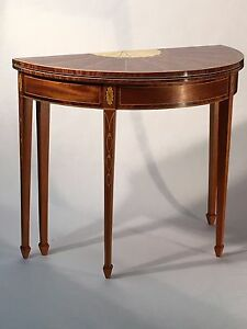 Reproduction Federal period NY Card Table c. 1790