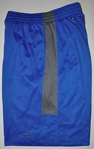 Nike Men's Dri Fit Blue Gray Mesh Basketball Shorts 2 Pockets Sz XL; L10.5