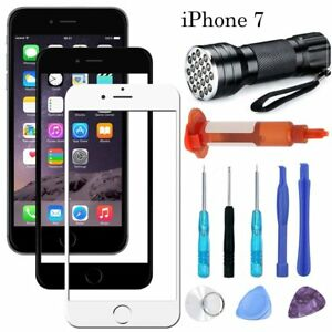 Front Outer Screen Glass Lens Replacement Tools UV Glue UV Light for iPhone 7