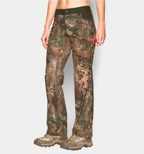 Under Armour Womens Early Season Speed Freek Camo Scent Control Hunting Pants  6