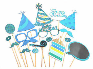 Photo Booth Party Props On Sticks For Baby Shower Birthday Wedding Party Event