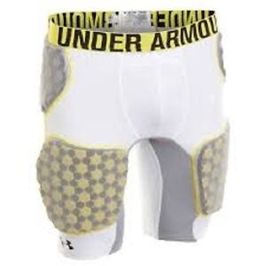 NEW Men's Under Armour MPZ 5 Pad Compression Shorts Football Girdle Adult Large