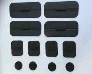 10 packs Non Gelled Carbon Rubber Electrodes for TENS EMS Round 1 4 pack C $105.00