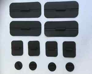 10 packs Non Gelled Carbon Rubber Electrodes for TENS EMS 1.75 x 4 4 pack C $195.00
