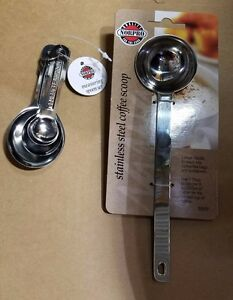 NORPRO SPOON SET AND COFFEE SCOOP STAINLESS STEEL X60019*K $14.00