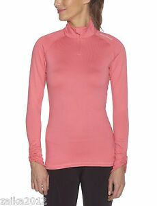 Under Armour 1232363 Womens M Fitted Cold Gear 14-Zip Top Shirt Pink Mock NWT