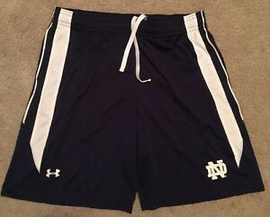 COACH WORN TEAM ISSUED NOTRE DAME FOOTBALL UNDER ARMOUR SHORTS 3XL