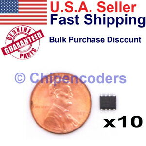 10 pcs Atmel 93c66a SU27 3-wire Serial EEPROM Memory 8pin SOIC SMD SMT