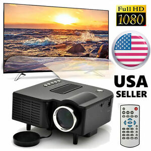 LED Projector LED LCD Home Theater Cinema Multimedia HDMI 5000 Lumens 1080P HL