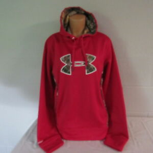 Under Armour Storm Polyester Loose Hoodie Sweatshirt Top Shirt Ruby Camo XL NWT