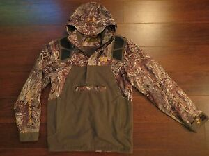 UNDER ARMOUR Skysweeper Mossy Oak Duck Blind Camo UA S Jacket Hoodie Call Goose