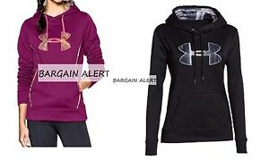 UNDER ARMOUR HOODIE SWEATSHIRTS X 2~ EXTRA LARGE ~ MAGENTA BLACK CAMO REALTREE