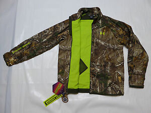 UNDER ARMOUR ColdGear CAMO Fleece lined Infrared Jacket _LG_ Real Tree #1247869