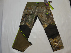 UNDER ARMOUR ColdGear® Infrared Storm 2 Barrier HUNT Camo PANTS *XL* RealTree